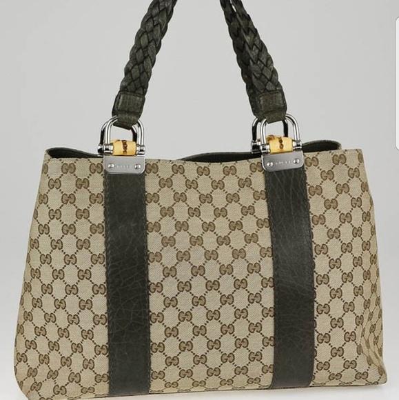 fd7e49d06 Gucci Bags | Gg Canvas Bamboo Bar Medium Tote Bag | Poshmark
